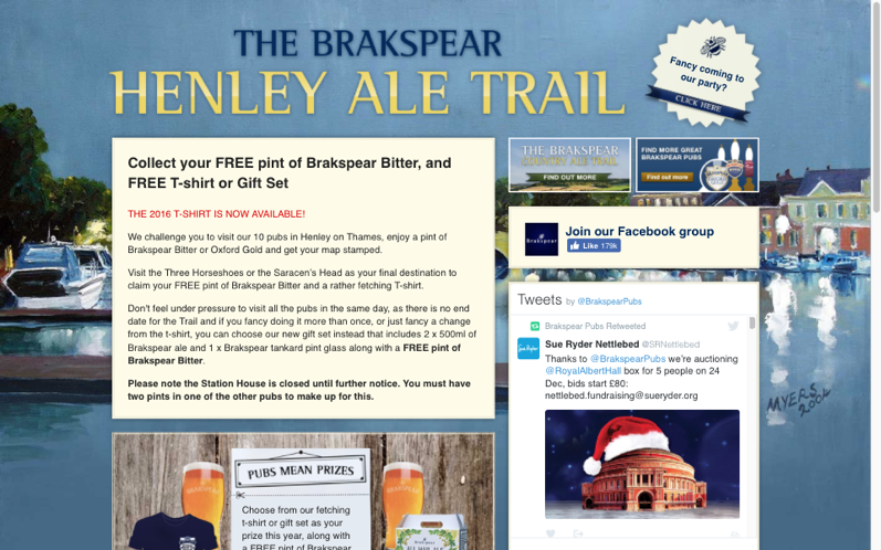 Thumbnail of Brakspear's<br> Henley Ale Trail on desktop